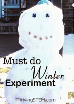 If you are lucky enough to get some snow this winter, have your preschooler give this simple experiment a try.  If not, you can always substitute with ice
