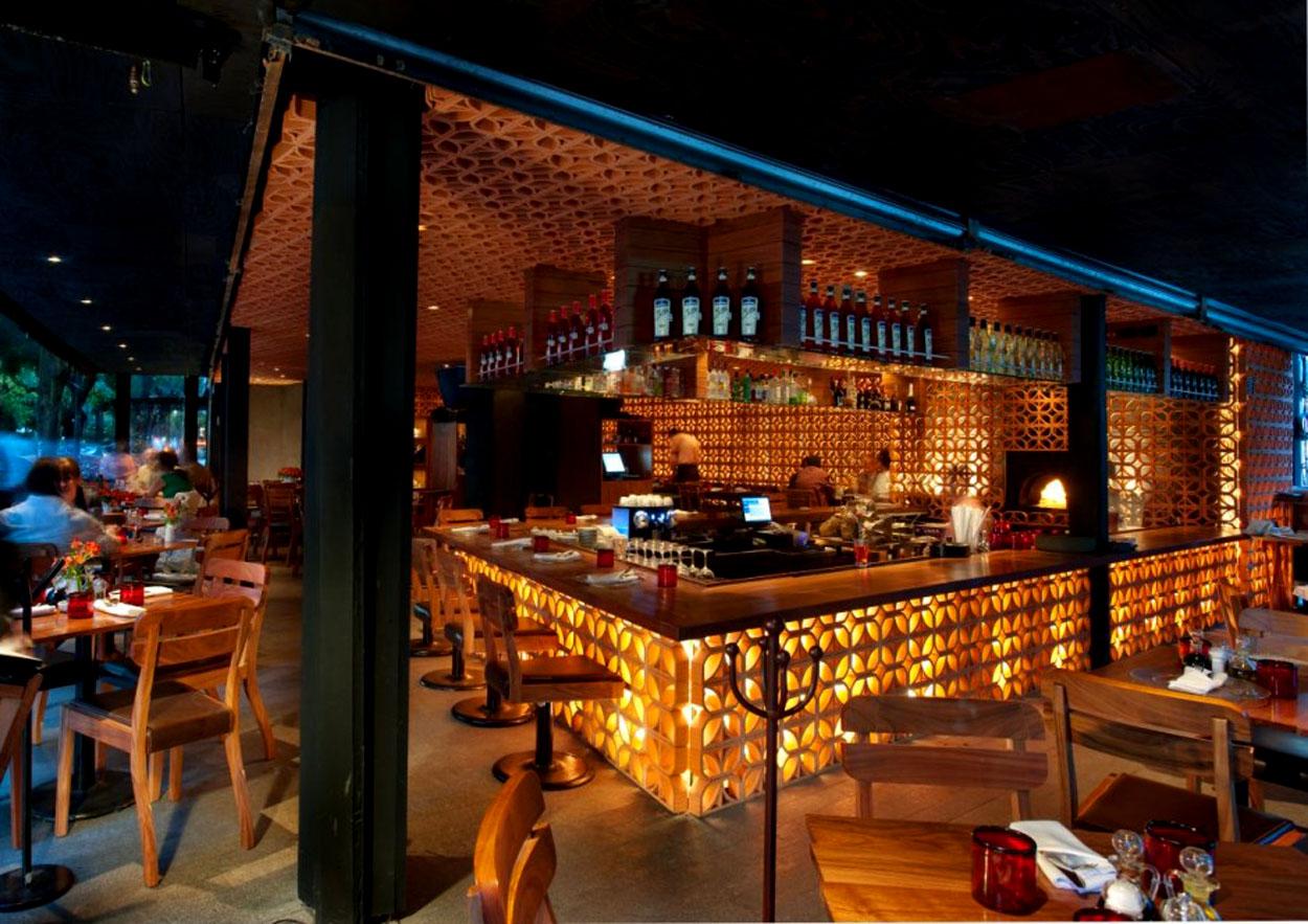 interior design information: warm interior atmosphere restaurant