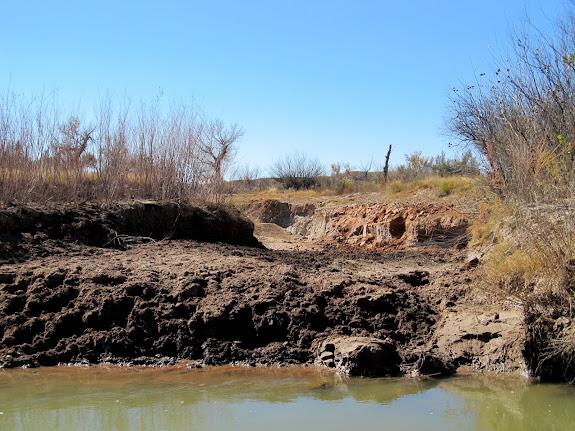 Old river crossing at Fuller Bottom