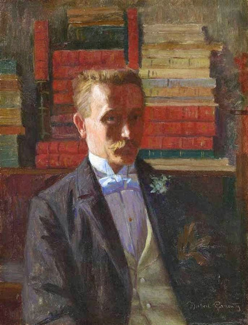 Norbert Goeneutte - Self-Portrait in the Artist's Library