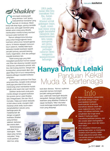 Vitamin Untuk Lelaki vitamin untuk lelaki Set Vitamin Untuk Lelaki Majalah i Sihat Jun 2013