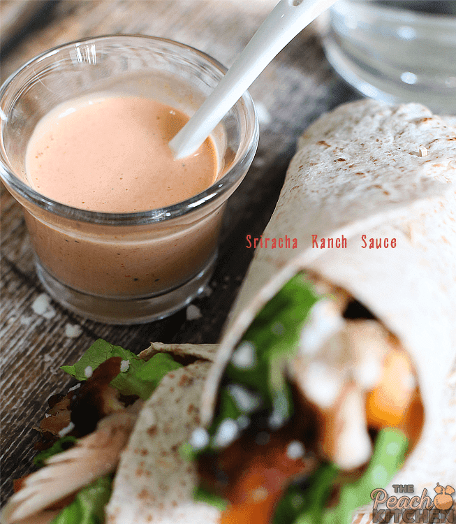CLT Wraps with Sriracha Ranch Sauce