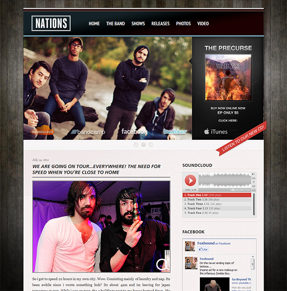 Grammy WordPress Theme for Bands