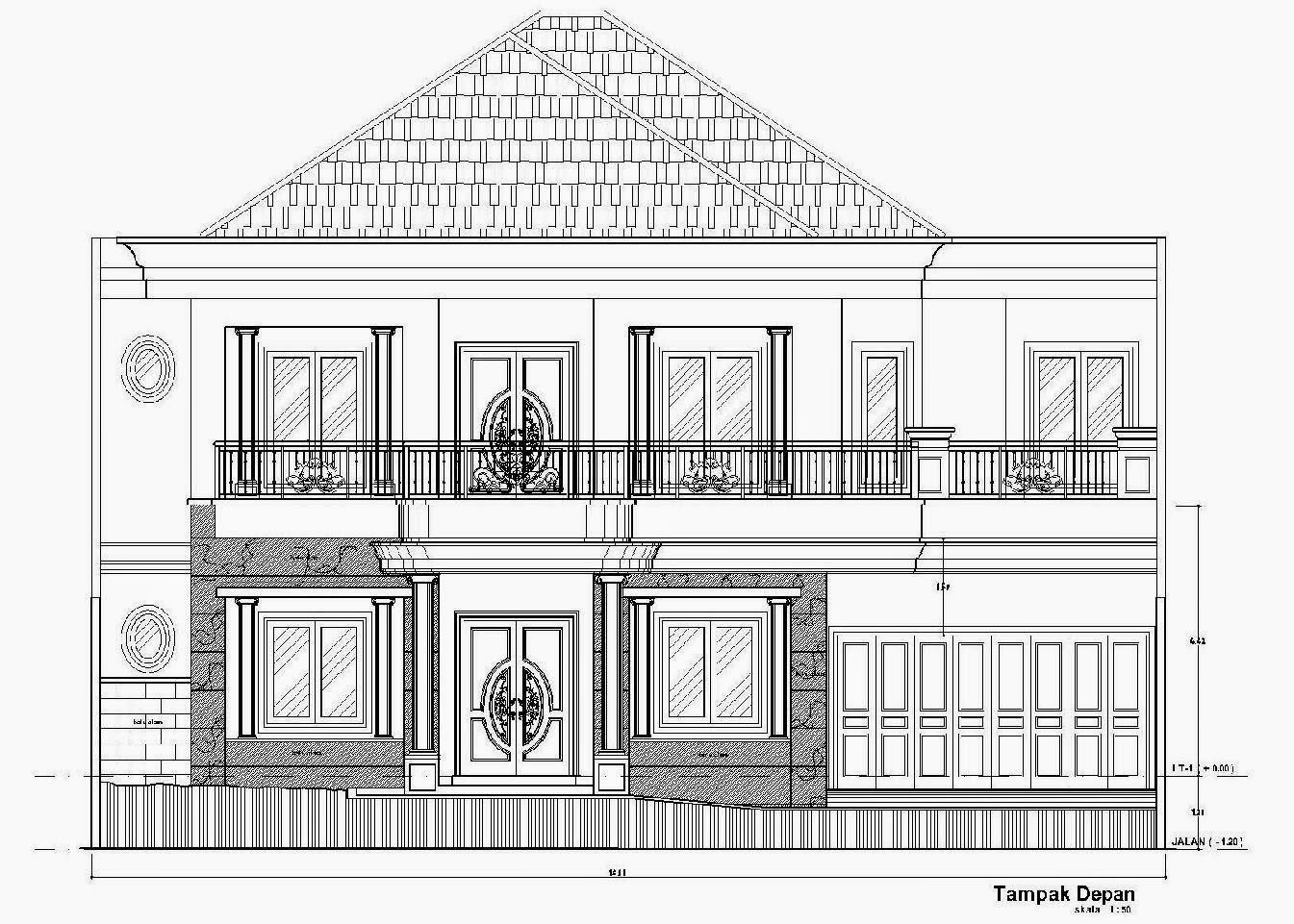 Contoh Menggambar Rumah Gallery Taman Minimalis