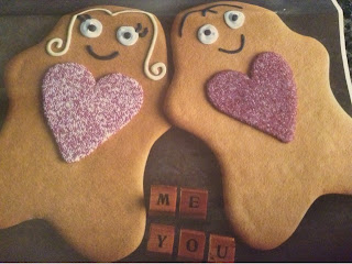 His and hers gingerbread figures