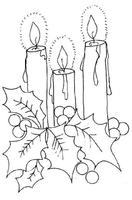 Christmas candles printables pages