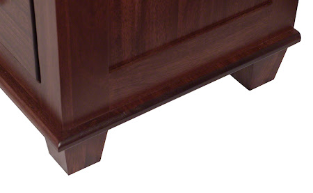 Monrovia Dresser in Ruby Walnut, Base Detail Closeup