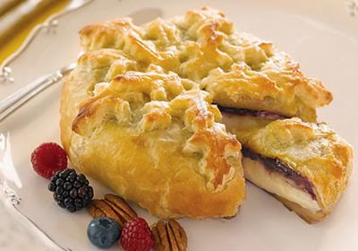 Diabetic Triple Berry Baked Brie Recipe from Diabetic Gourmet Magazine. DiabeticGourmet.com