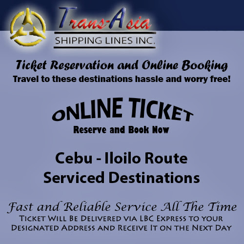 Trans-Asia Shipping Cebu-Iloilo Route Ticket Reservation and Online Booking