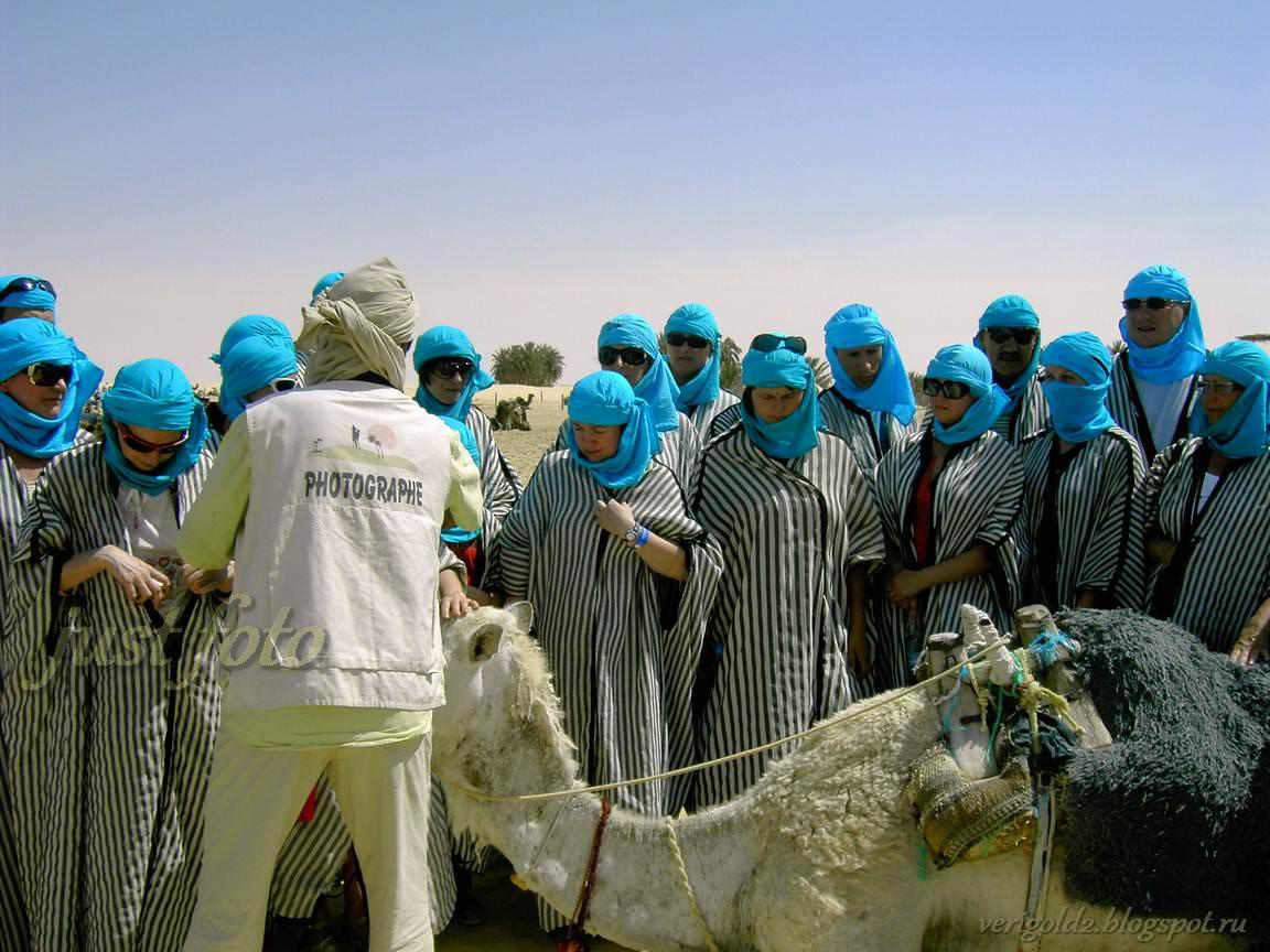 Экскурсия в Сахару - катание на верблюде