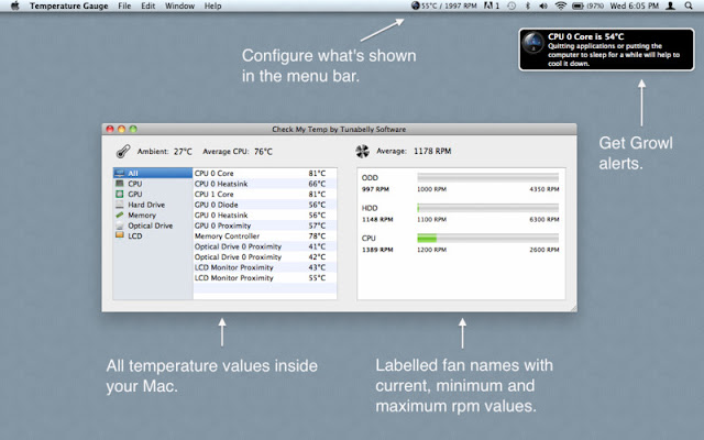 Temperature Gauge - mac temperature monitor