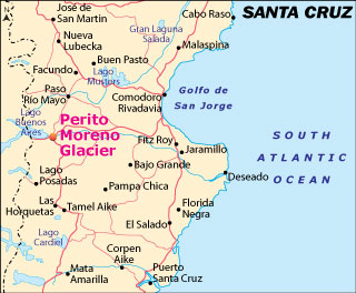 Mapa La Provincia de Santa Cruz