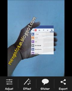 tutorial cara mudah membuat foto instagram in hand menggunakan picsay