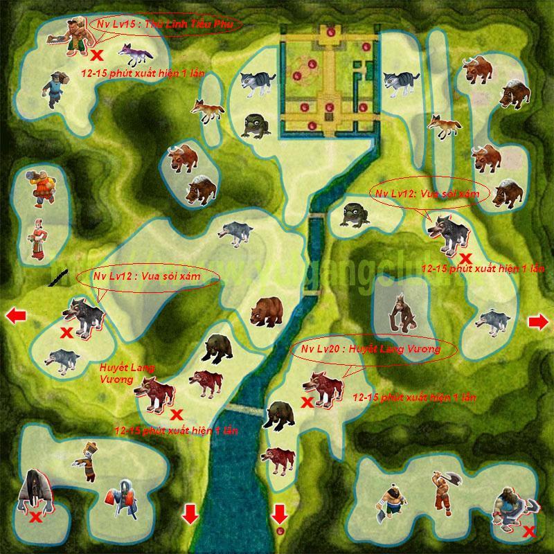 Bản đồ và hướng dẫn làm các nhiệm vụ đi tìm Thủ Lĩnh HKGH