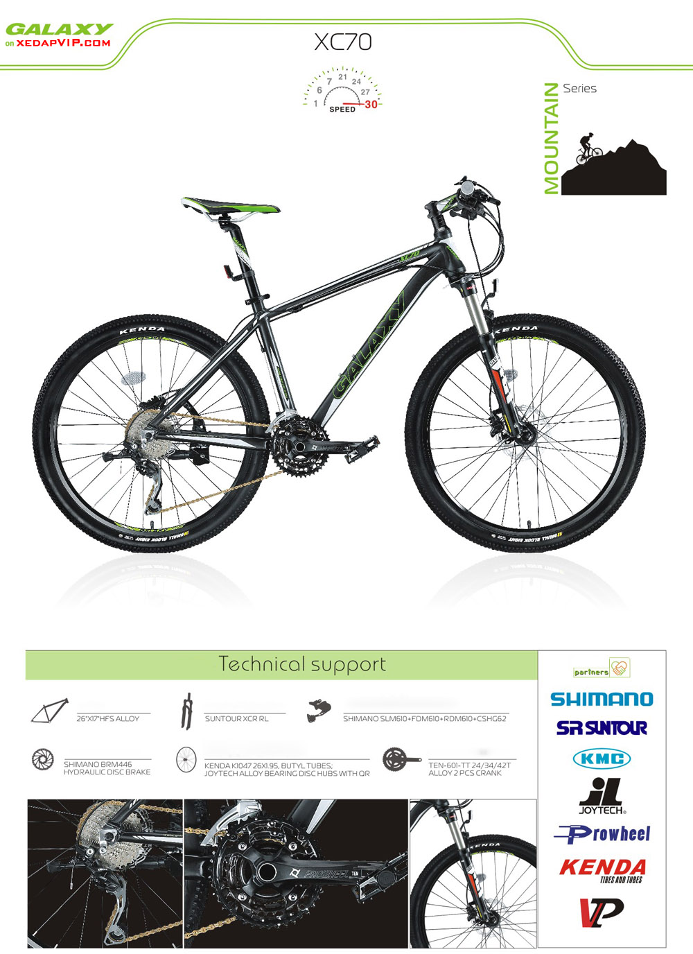 Xe dap the thao GALAXY XC70, xe dap the thao, xe dap trinx, xe đạp thể thao chính hãng, xe dap asama, XC70