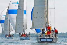 J44 one-design sailboats