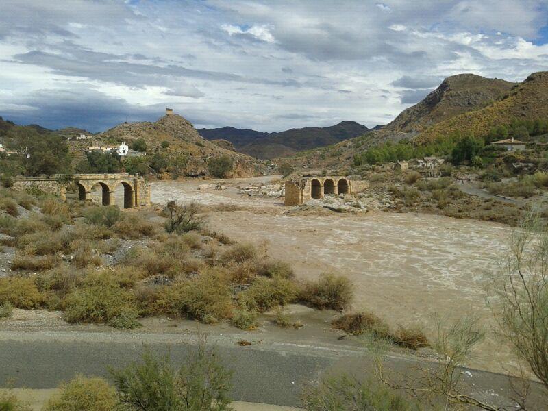 grandes inundaciones en almeria: