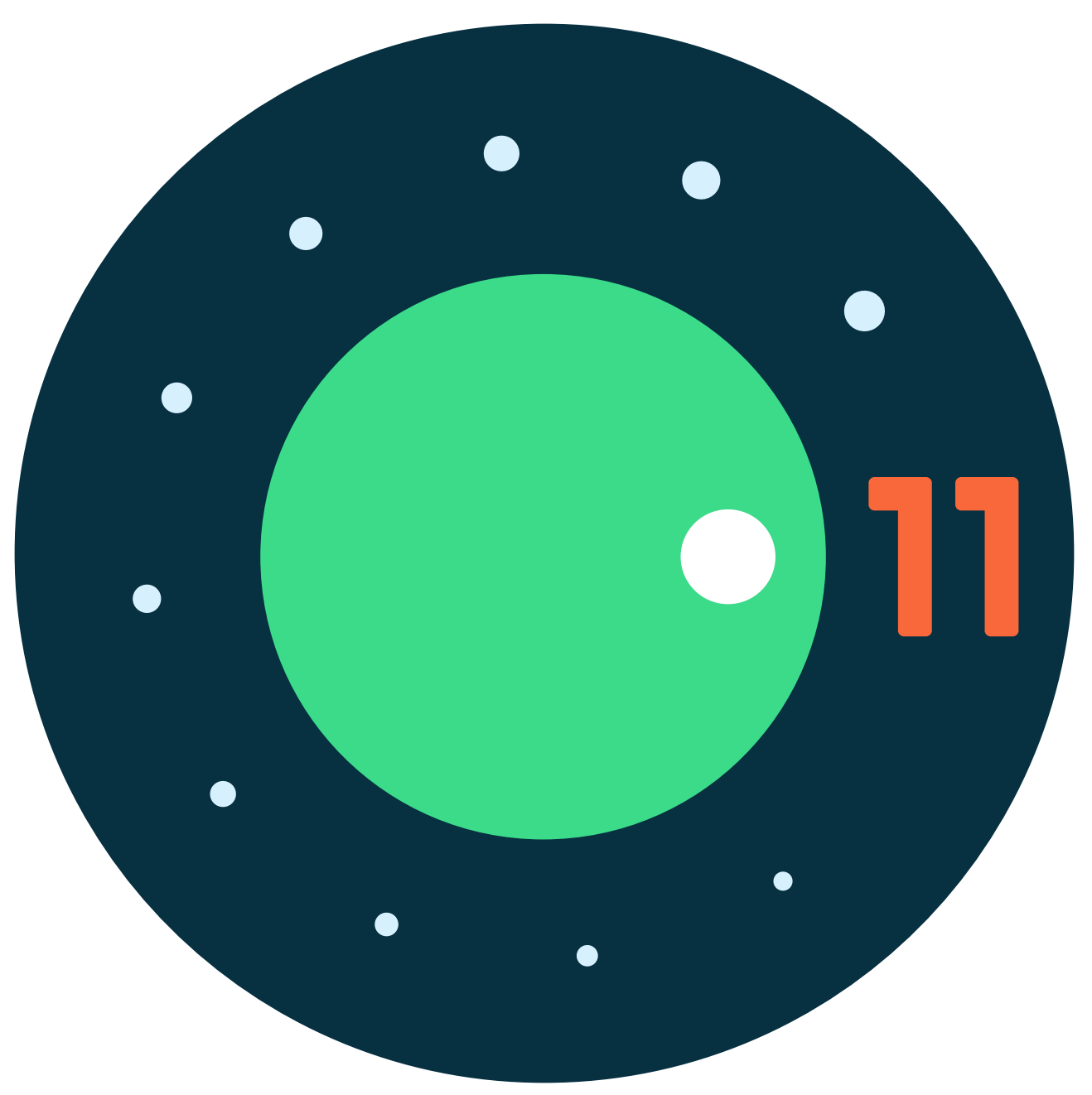 Android 11 Dial logo