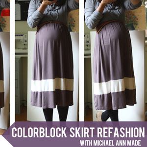 colorblock skirt tutorial