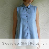 chambray shirt refashion