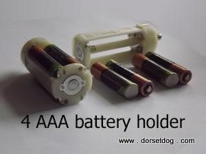 4 AAA battery holder