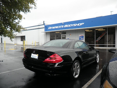 Mercedes Benz SL500 after bodywork at Almost Everything