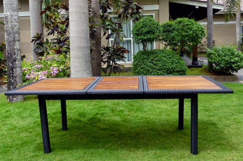 table extensible pour jardin. Black Bedroom Furniture Sets. Home Design Ideas