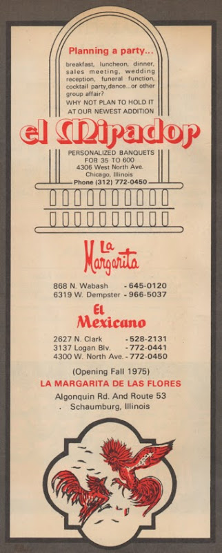 La Margarita recipe booklet ©1966
