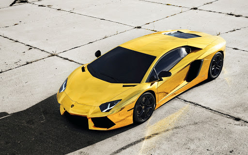 Yellow Black Glass Lamborghini
