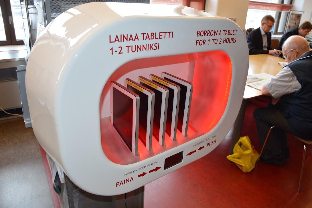 Library 10, izposoja tabličnih računalnikov