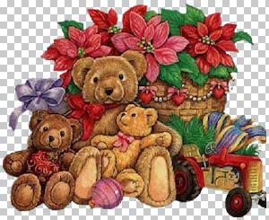 bear xmas plus flowers.jpg