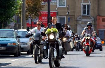 Our biker wedding