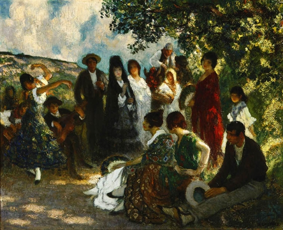 Francis Luis Mora - Outdoor party in Spain