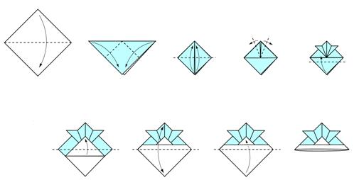 origami instructions samurai hat 3d make origami easy