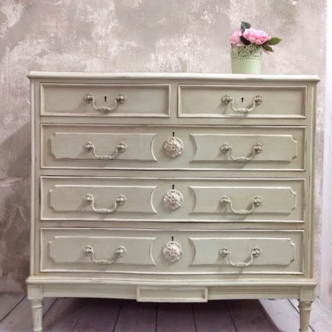 Remakes con autentico chalk paint la c moda encantada for Chalk paint muebles ikea