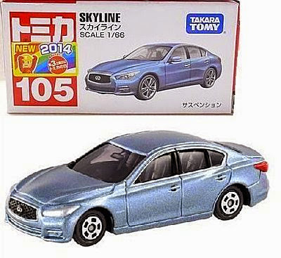 Hộp sản phẩm Tomica 105 Nissan Skyline