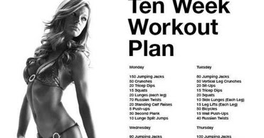 diary of a fit mommy 10 week workout plan