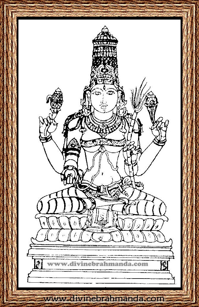 Soundarya Lahari Sloka, Yantra & Goddess For Control Over Wild Animals - 19