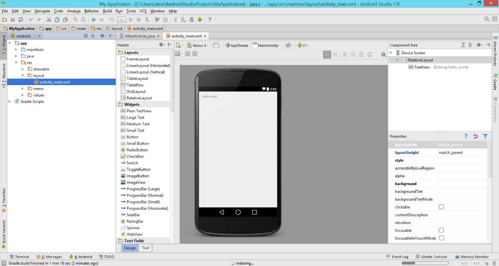 Android Studio 1.0