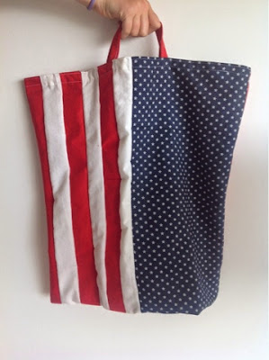 American bag, stars ans stripes