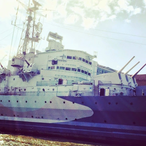 HMS Belfast - Spotted on our Fireman Sam Ocean Rescue Day