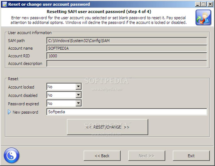 Reset Windows 7 Password 04