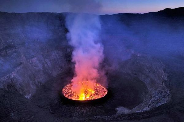 The Crater Of Nyiragongo Congo