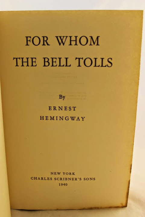 "an plot overview of ernest hemingways for whom the bell tolls ""for whom the bell tolls"" by ernest hemingway picked for whom the bell tolls off the used bookstore shelf and got reading i'll skip the plot summary."