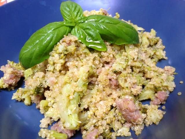 amaranto con broccoletti e salsiccia!