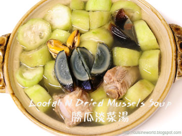 Loofah N Dried Mussels Soup