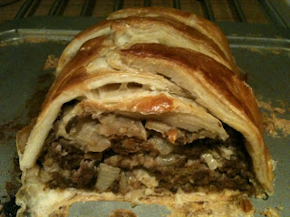 Home made Mince Beef wellington