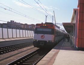Obras en las vías de la estación de Cercanías Vallecas Industrial, en la línea C2
