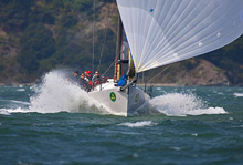 J/125 Double Trouble sailing fast on Pacific Coast