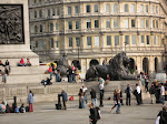 The great big lions of Trafalgar Square
